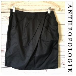 ANTHROPOLOGIE Odille Navy Blue Pencil Skirt career